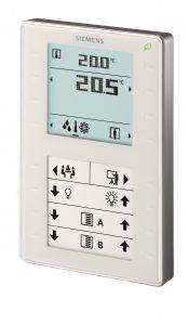 In allen Büroräumen dient das QMX3-Raumbediengerät dazu, den Energieverbrauch jederzeit zu überwachen. (Bild: Siemens AG)