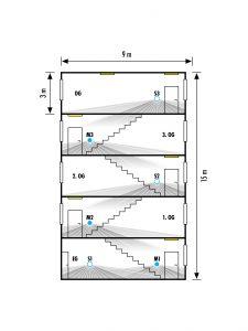 Durch separat zu schaltende Etagengruppen im Treppenhaus, kann zusätzliche Energie eingespart werden. (Bild: Esylux Deutschland GmbH)