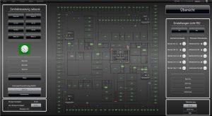 Die Technik von insgesamt 500 Räumen läuft in der XAMControl-Software zusammen. Übergeordnete Parameter wie die Lüftung oder die  Jalousieneinstellung kann der Gebäudeleiter so von einer von zwölf  Bedienstationen aus regulieren oder vorprogrammieren. (Bild: evon GmbH)