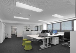 Flächenleuchten für die Büros (Bild: Tridonic GmbH & Co. KG)