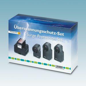 Das Überspannungsschutzset GEB-SET-VAL-MS-T1/T2-TAE von Phoenix Contact bietet mit Ableitern der Kategorien Typ 1/2 sowie Typ 3 einen Rundumschutz für die wichtigsten Endgeräte im Eigenheim (Bild: Phoenix Contact Deutschland GmbH)