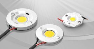 Lumawise LED-Halter von TE Connectivity erfüllen die vier wichtigsten Anforderungen: Lötfreie Verbindungen, korrekte thermische Niederhaltekräfte, Befestigungen für sekundäre Optik und einfacher Einbau der COB-LEDs in das Beleuchtungssystem. (Bild: TE Connectivity)
