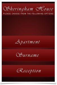 Das Layout der Sprechstelle lässt sich individuell auf die Bedürfnisse des jeweiligen Nutzers anpassen. Im das Muster-Menü eines Hotels. (Bild: Schneider Intercom GmbH)
