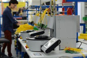 Glasfaser-Produktionslinie: