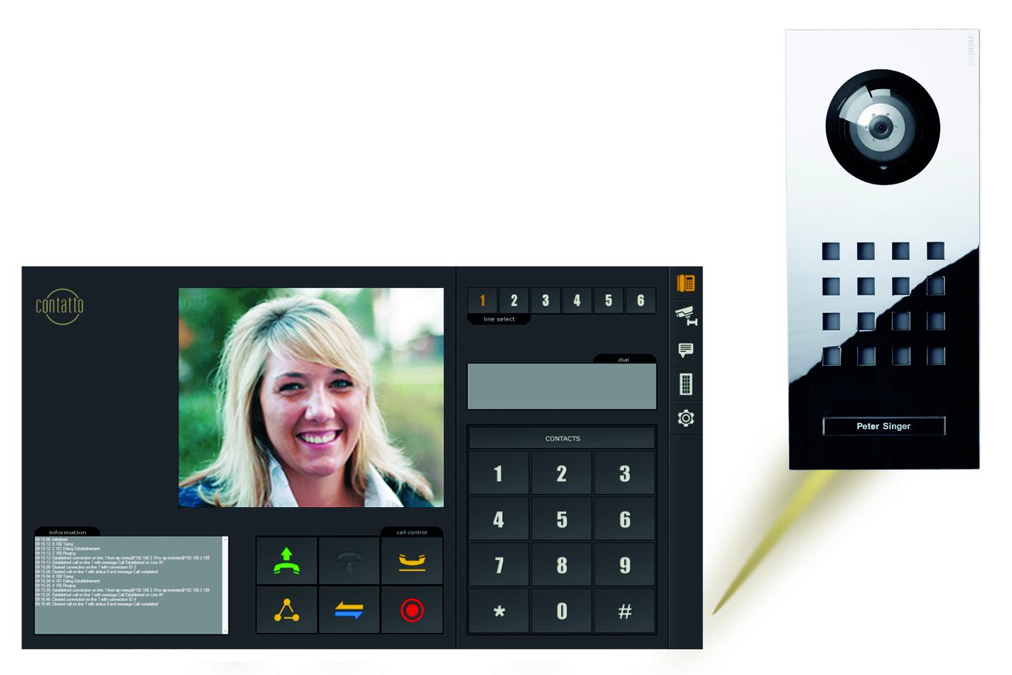 Türkommunikation per Touchpanel
