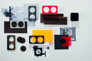 Die ganze Materialvielfalt des Schalterprogramms R.1 (Bild: Hager Vertriebsgesellschaft mbH & Co. KG)
