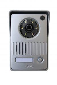 Dank der Zweidraht-Technik auch als Nachrüstlösung hervorragend geeignet: Die neue Farb-Videotürsprechanlage V400 ist einfach zu installieren und bietet viele intelligente Bedienoptionen. (Bild: Somfy GmbH)
