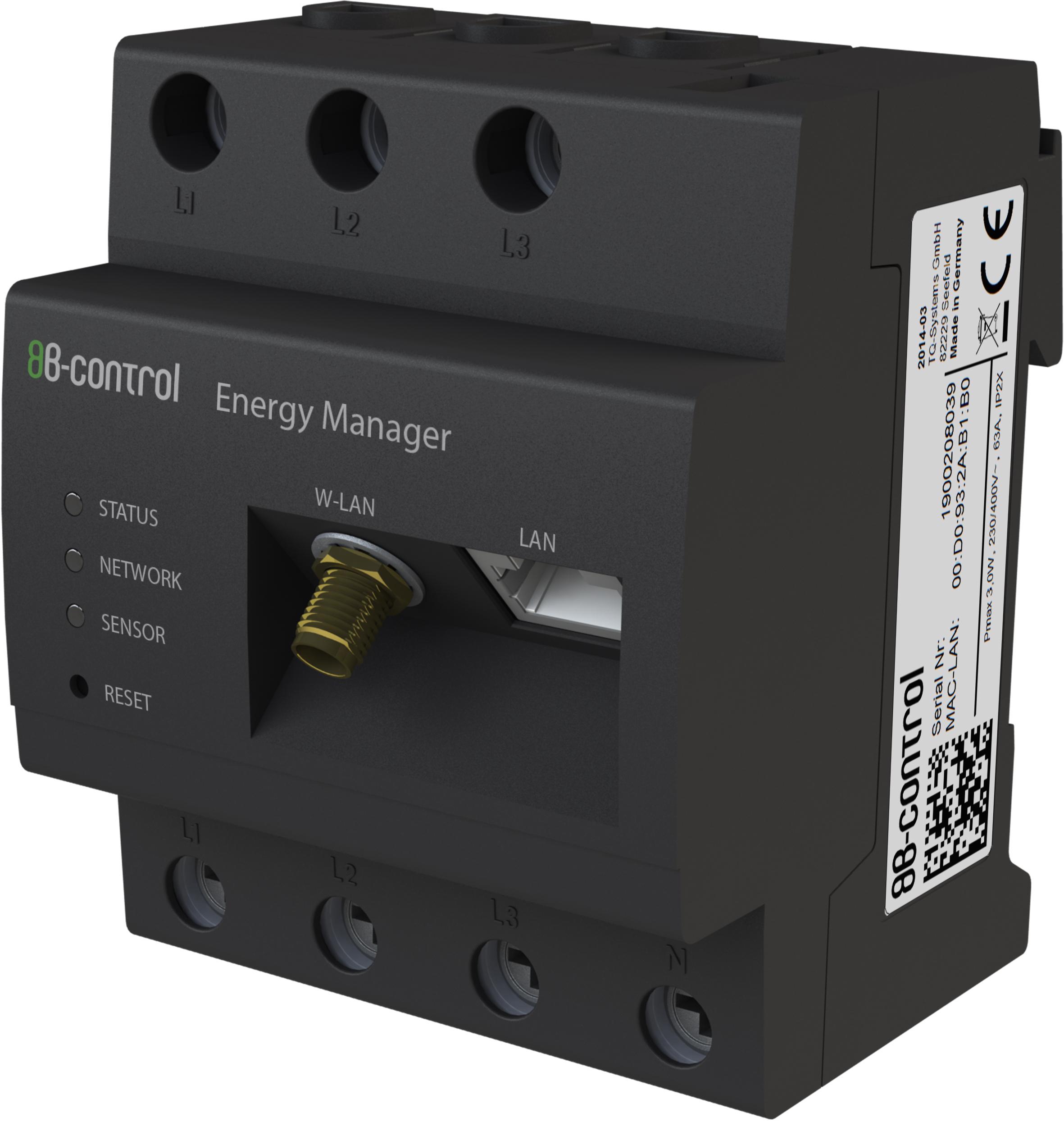 B-control Energy Manager: Vollintegrierter Smart Meter für Eigenheim, Solar und Industrie