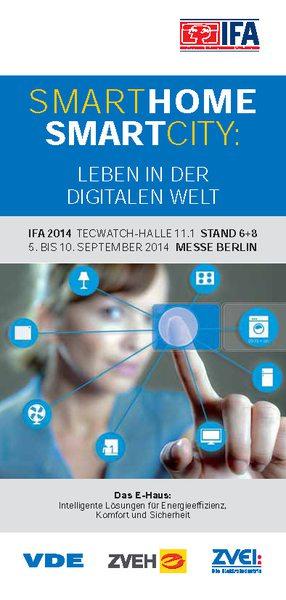 IFA 2014: Gemeinschaftsstand VDE, ZVEH und ZVEI