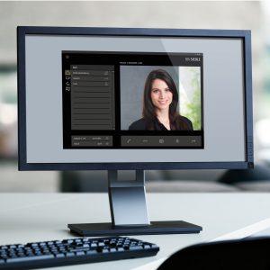 Das virtuelle Haustelefon macht PC-basierte Bedienpanels oder handelsübliche Computer zur Sprechstelle der Türkommunikation. (Bild: S. Siedle & Söhne)