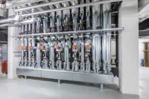 Neben Konzeption und Architektur ist die intelligente Klimatechnik mit hochmodernen Wago-Steuerungen ein Herzstück des schmucken Gebäudekomplexes. (Bild: Oskar Eyb/vor-ort-foto.de)