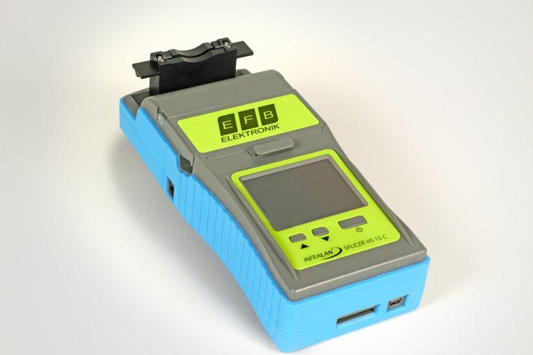 LWL-Spleißgerät mit eingebautem Crimptool