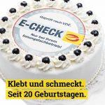 20 Jahre E-Check: Einträgliche Bilanz eines fleißigen Jubilars
