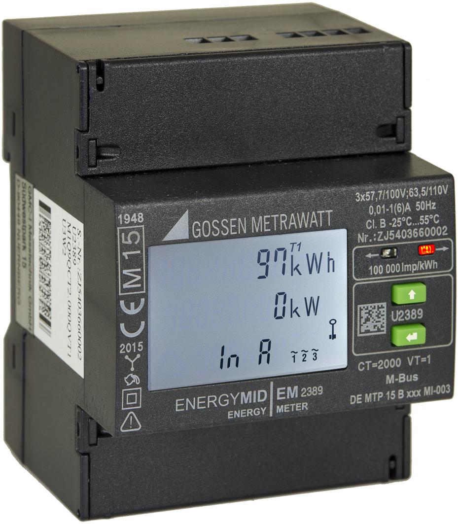 Energiezähler mit kompakten Abmessungen