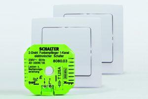 Die Funkempfänger von Free-control werden unterputz installiert und direkt mit der Lampe oder dem Rollladenmotor verbunden. (Bild: Heinrich Kopp GmbH)