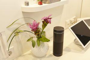 Alle Digitalstrom-Anwendungen lassen sich per Sprachsteuerung aufrufen ?  auch mit der Amazon Echo, deren Markteinführung in Europa in Kürze erfolgen wird. (Bild: Digitalstrom AG)