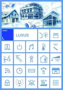 Ausstattungskategorien Komfort, Exklusiv und Luxus (Bild: Hasenclever Smart Home GmbH & Co. KG)