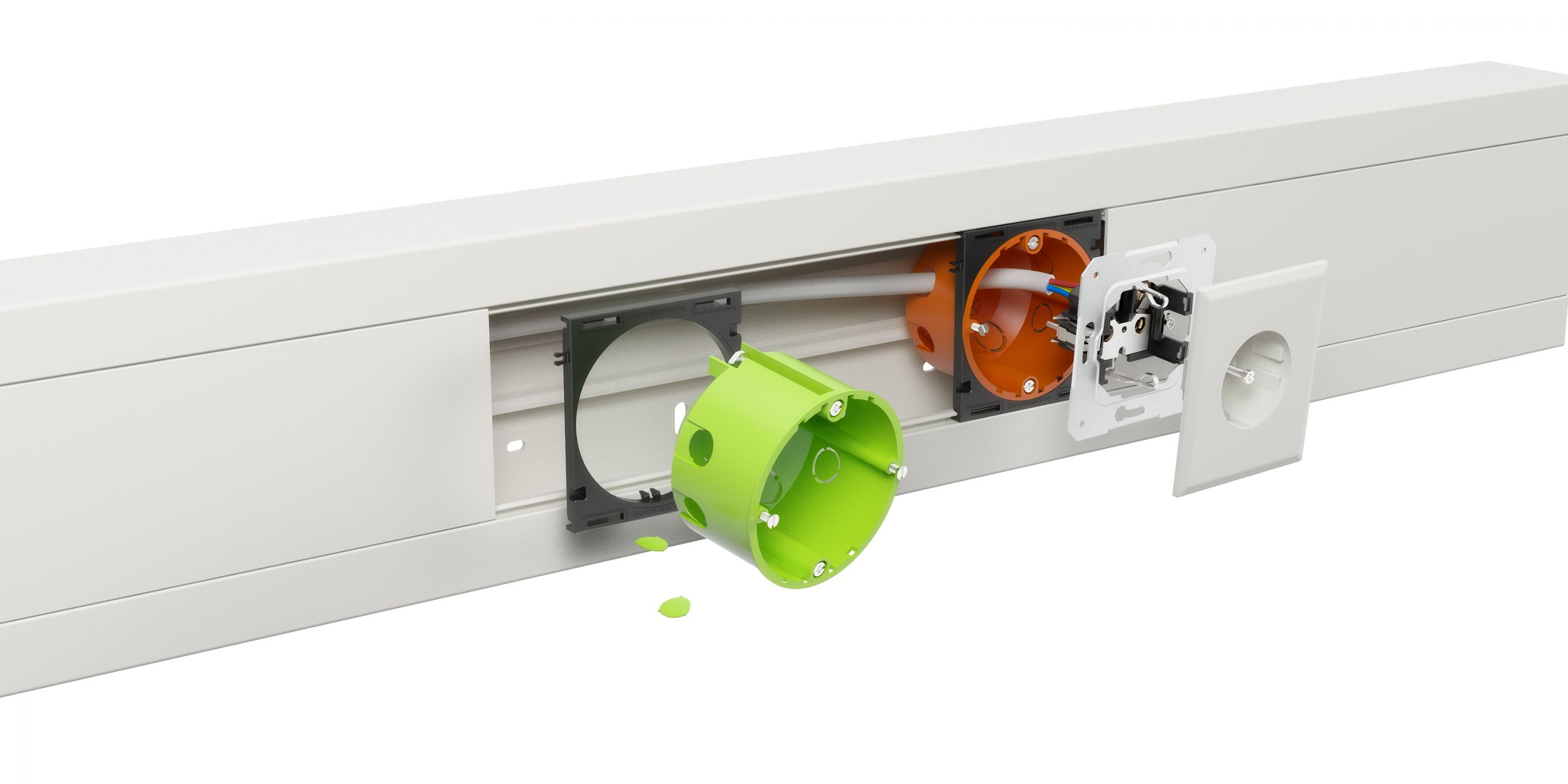 Hohlwanddosen-Adapter