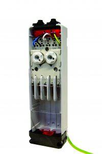 Sicherungskasten EK 480 mit integriertem Überspannungsschutz, ohne Abdeckung. (Bild: Langmatz GmbH)