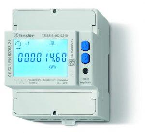 Elektronische Wirkstromzähler der Serie 7E überwachen die wichtigen Parameter während des Ladevorgangs. (Bild: Finder GmbH)