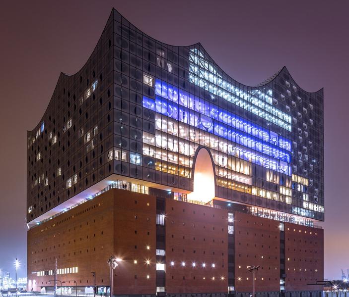 Konzerthaus mit moderner Gebäudetechnik