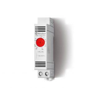 Die Schaltschrankthermostate der Serie 7T.81 können je nach Ausf?hrung im Temperaturbereich von 0 bis +60?C oder von -20 bis +40?C eingestellt werden. (Bild: Finder GmbH)