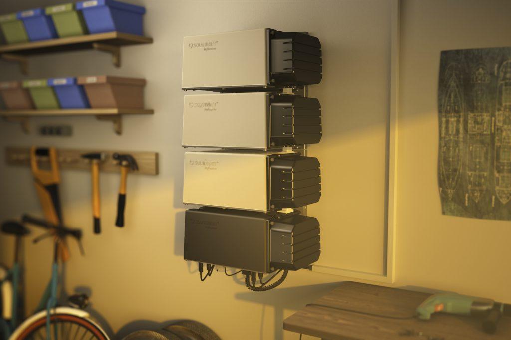 Der modular aufgebaute Batteriespeicher MyReserve Matrix erfällt vollst?ndig den Sicherheitsleitfaden für Li-Ionen-Hausspeicher. (Bild: Solarwatt GmbH)