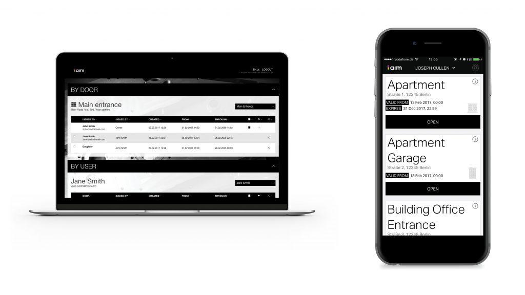 Die Zutrittcodes lassen sich auf dem Laptop oder Smartphone verwalten. So können zeitlich begrenzte Codes oder Gastzug?nge ausgestellt werden. (Bild: H?rmann KG Verkaufsgesellschaft)