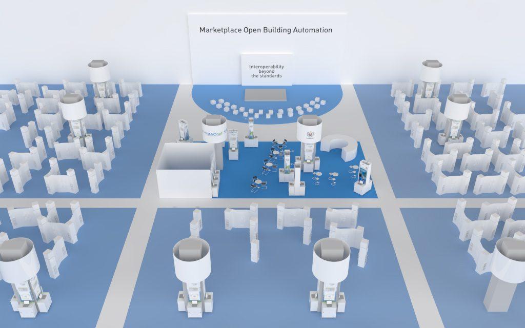 Marktplatz OPEN BUILDING AUTOMATION der Light+Building 2018. (Bild: Tema Technologie Marketing AG)