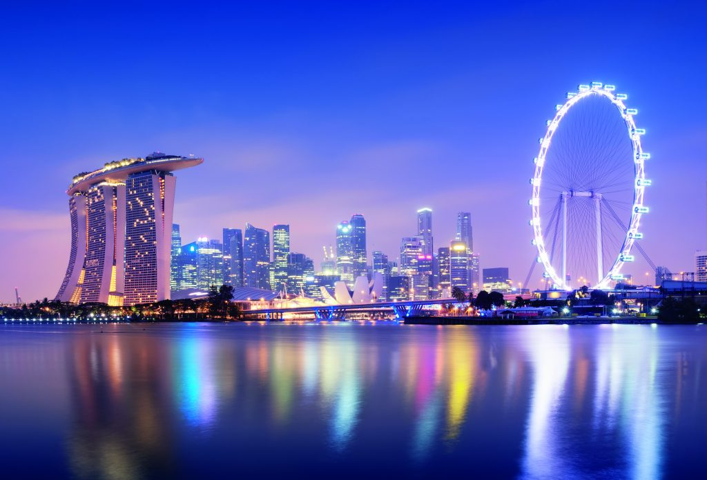 Der Singapore Flyer ? angetrieben über Stromschienen von Vahle. (Bild: ESYLUX Deutschland GmbH)
