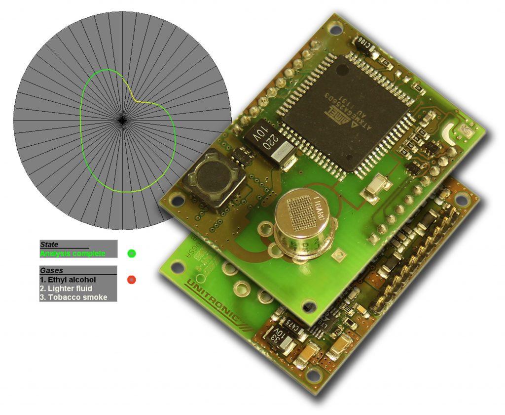 Das virtuelle Gassensor-Array verwendet einen kostengünstigen Miniatur-Gassensor auf Basis eines oxidischen Halbleiters (Bild: UNITRONIC GmbH)