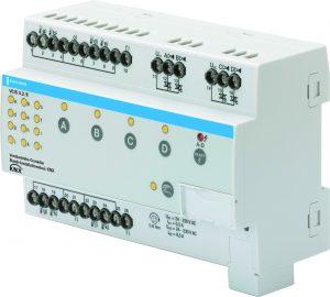 Der Ventilantriebs-Controller eigent sich zur Regelung von Kühldecken, Fußbodenheizungen oder Radiatoren. (Bild: Busch-Jaeger Elektro GmbH)
