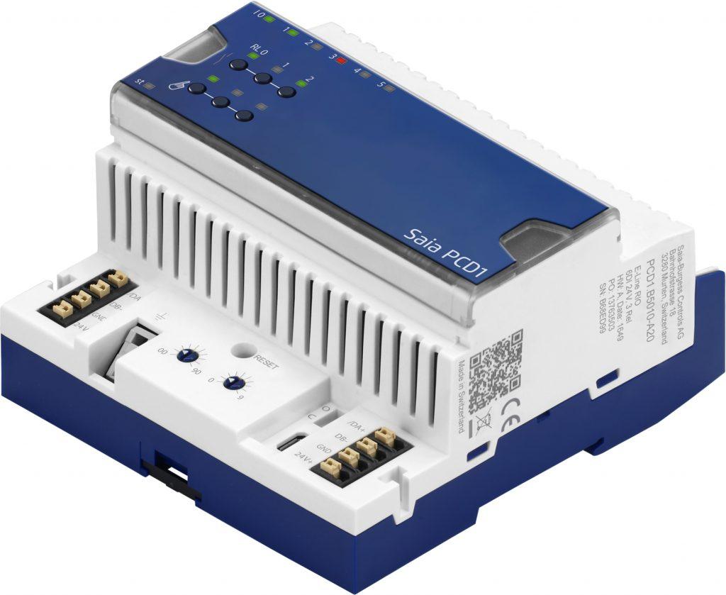 Die E-Line S-Serie RIO wird um ein 24V-Eingangsmodul erweitert. Das neue PCD1.B5010-A20 eignet sich besonders zur Integration von Brandschutzklappen. (Bild: Saia-Burgess Controls AG)