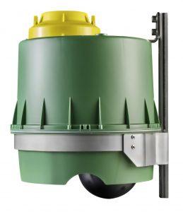 Die einzelnen Köderschutzboxen nutzten jeweils eine Rückstauklappe, die sich automatisch schließt, wenn der Wasserpegel steigt. (Bild: ball-b GmbH & Co KG)