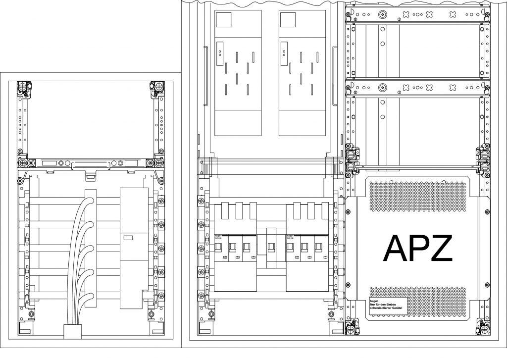 Beim Einbau des Kombiableiters im Anschlussschrank kann der Endkunde die Statusanzeige der Überspannungsschutzeinrichtung durch einfaches Öffnen der Tür überprüfen. (Bild: Hager Vertriebsgesellschaft mbH & Co. KG)