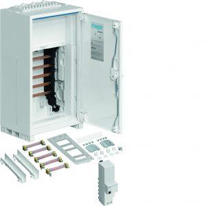 Die univers Z Anschlussschränke von Hager sind ab Werk mit allen erforderlichen Zubehörteilen ausgestattet. (Bild: Hager Vertriebsgesellschaft mbH & Co. KG)