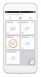 Die ViCare App bietet Anlagenbetreibern ein Rundum-sorglos-Paket für die Heizungssteuerung. (Bild: Viessmann Werke GmbH & Co. KG)