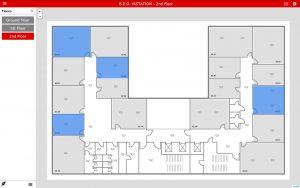 Verwaltenden Mitarbeitern kann über die Bewegungserkennung angezeigt werden, welche Räume belegt sind. (Bild: B.E.G. Brück Electronic GmbH)