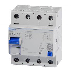 Fehlerstromschutzschalter speziell für die Anforderungen der Elektromobilität. (Bild: Doepke Schaltgeräte GmbH)