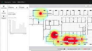Silvair Monitoring ist ein Paket aus Software-Werkzeugen, das wertvolle Einblicke z.B. in die Raumnutzung ermöglicht. Die Belegungsdaten lassen sich in Heizkarten darstellen. So spart das Unternehmen Energie und optimiert die Raumnutzung. (Bild: Silvair sp. z o. o.)