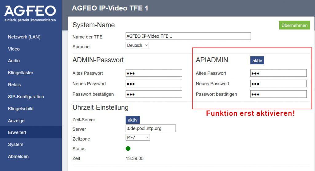 Um die jeweilige Display-Funktion zu aktivieren bzw. einzustellen, muss die Agfeo IP-Video TFE-Befehle von der Schaltlogik einer Smart-Home-Zentrale empfangen. (Bild: Agfeo GmbH & Co. KG)