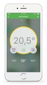 Die Benutzerführung der App ist intuitiv. Bis zu 16 Zonen oder Räume können eingerichtet und individuell konfiguriert werden. (Bild: Eberle Controls GmbH)