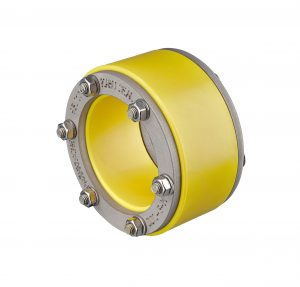 Die Pressringdichtung Kabu-Seal dichtet Kabelschutzrohre von außen gegenüber der Kernlochbohrung ab. (Bild: Fränkische Rohrwerke)