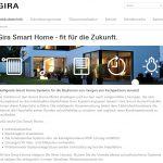 Neue Landingpage 'Gira Smart Home'