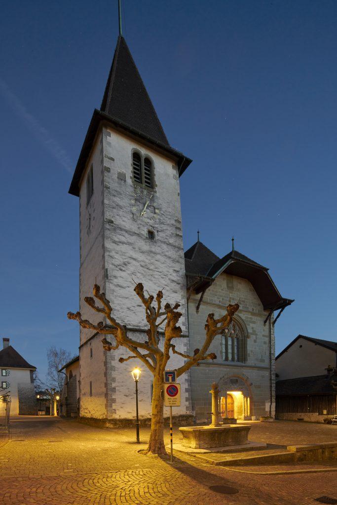 Temple de Lutry, Evangelische Kirche bei Lausanne (Bild: Tridonic GmbH & Co. KG)