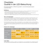 Checklisten zur Planung von Beleuchtungsanlagen