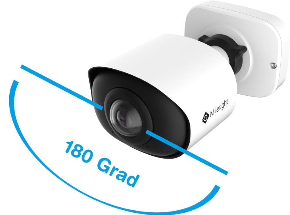 Die Kamera kombiniert die Sicht einer Fisheye-Kamera mit der Flexibilität einer Bullet-Kompaktkamera. (Bild: Milesight Technology Co., Ltd.)