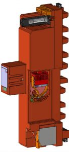 ZP-Generation 4.0 mit RAC-Funkenstreckentechnologie und integriertem Spannungsabgriff (Bild: Dehn SE + Co KG)