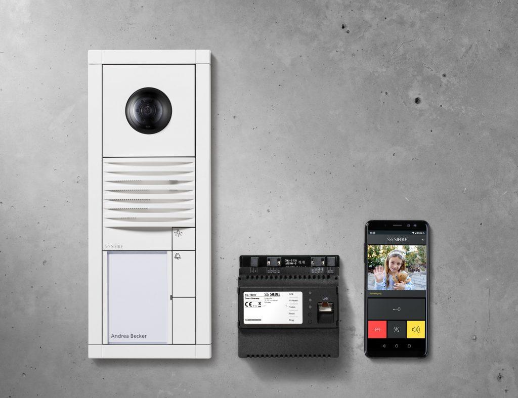 Vario-Set Smart Gateway, weiß, Unterputz: Vario-Video, Smart Gateway, App (Bild: S. Siedle & Söhne)