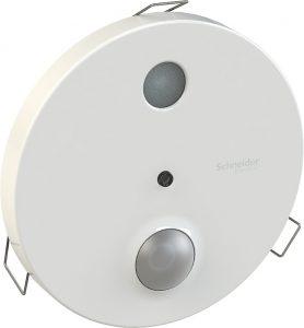 Decken-Multisensor für Helligkeits- und Präsenzerfassung (Bild: Schneider Electric GmbH)